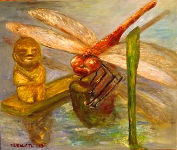 La libélula y el testigo del tiempo