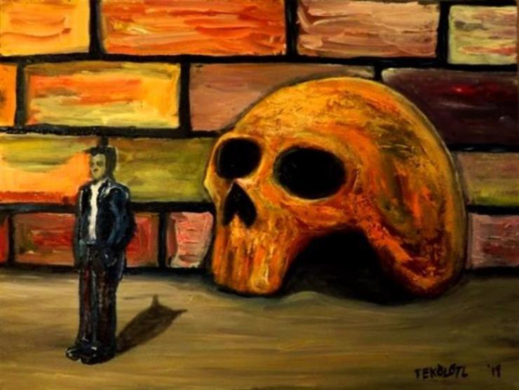 Poeta viviendo en un cráneo.